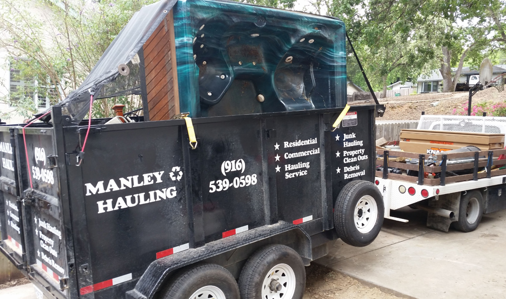 Hot Tub and Outdoor Spa Demolition and Removal Services - Manley Hauling in El Dorado, Placer and Sacramento County